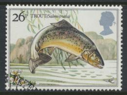 Great Britain  SG 1209 SC# 1013 Used / FU with First Day Cancel - River Fish