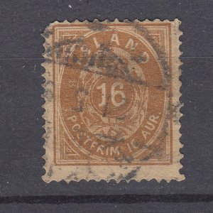 J29747, 1876 iceland used #12 avg condition perf 14 x 13 1/2, $65.00 scv