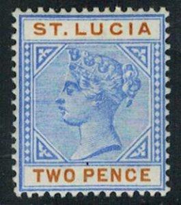 Saint Lucia Scott 30 Unused hinged.