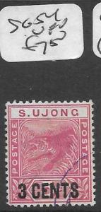 MALAYA SUNGEI UJONG (P0501B) TIGER 3C/2C  SG54  VFU