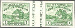 766a Mint,NGAI,H... Vertical Gutter Pair... SCV $7.00