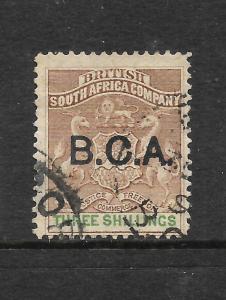 BCA 1891-95  3/- ARMS   FU  SG 10