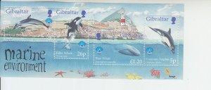 1998 Gibraltar Marine Environment MS4 (Scott 764) MNH