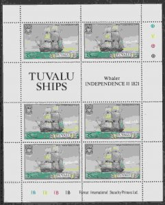 Tuvalu #151-56 m/sheets of 6, F-VF Mint NH ** Ships