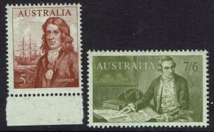 AUSTRALIA 1963 NAVIGATOR 5/- AND 7/6 MNH **