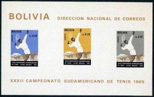 Bolivia 514a,C294a exist,MNH.Michel Bl.22-23. South Tennis Championships,1968.