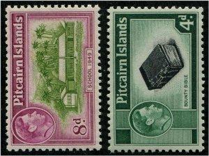 HERRICKSTAMP PITCAIRN ISLANDS Sc.# 5A, 6A Scott Retail $36.00 Mint NH
