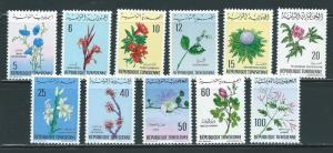 Tunisia 499-509 1968-9 Flowers set NH