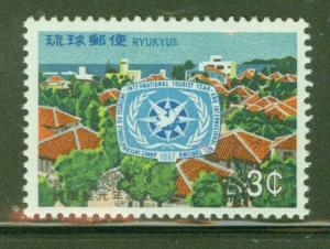 RYUKYU Scott 162 MNH** ITY Emblem stamp 1967