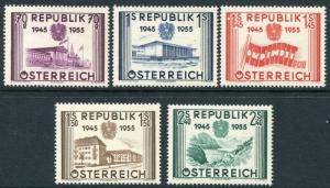 AUSTRIA ~ #599 - 603 Beautiful Mint Never Hinged Set ~ AUSTRIA LIBERATION  S5229