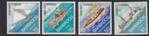 Barbados # 392-395, Fishing Boats. NH, 1/2 Cat