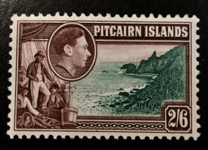 Pitcairn Islands Scott 8 KGVI Definitive Two Schilling Six Pence-Mint
