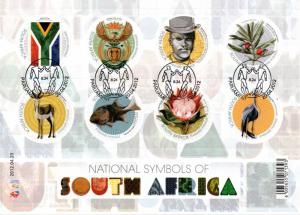 South Africa - 2012 National Symbols Sheet Used