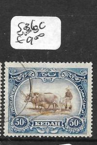 MALAYA KEDAH (P3012B) COW 50C  SG 36C   VFU