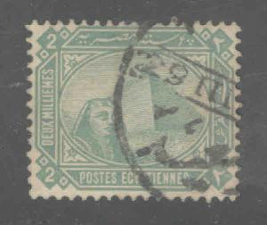 EGYPT Scott 44 Used classic Sphinx and Pyramid stamp