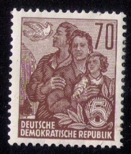 Germany DDR,Sc 230a Unused MH,Og 1955 F-VF