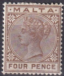 Malta #12 F-VF Unused  CV $13.00  (Z1640)