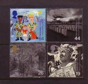 Great Britain Sc 1875-8 1999 Soldier  stamp set mint NH