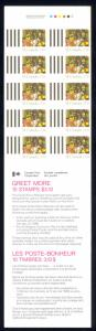 Canada Sc# BK91d Booklet MNH 1986 29¢ Christmas Greet More perf 12½