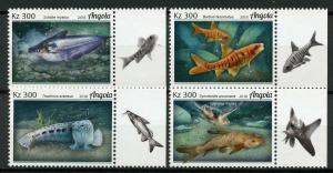 Angola 2018 MNH Fishes Grea Sea Turtle 4v Set Turtles Fish Marine Stamps