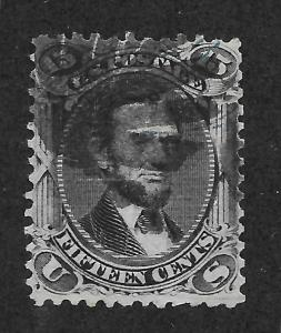 91 Used, 15c. Lincoln, scv: $600  Fancy Cancel