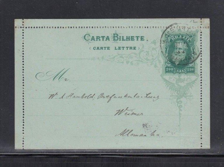 Brazil Letter Card to Germany 1894