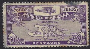 DOMINICAN REPUBLIC C5 USED $4.50 BIN $1.80 MAP