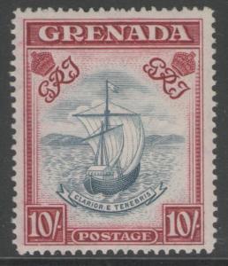 GRENADA SG163d 1944 10/= SLATE-BLUE & CARMINE LAKE(WIDE) p14 MTD MINT