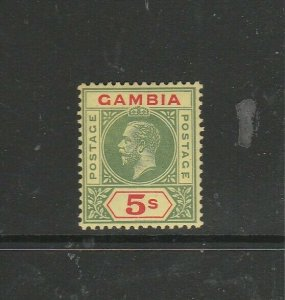 Gambia GV 1912/22 Crown CA 5/- Fresh MM SG 102