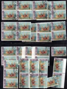 TANZANIA # 28 LOT of 45 STAMPS CTO 1sh NH 1967-71 FISH