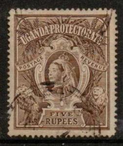 UGANDA SG91 1898 5r BROWN USED