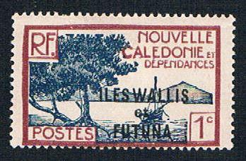 Wallis and Futuna 43 MLH New Caledonia overprint (BP1041)