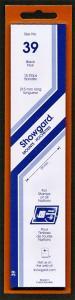 Showgard Stamp Mounts Size 39 / 215 BLACK Background Pack of 15