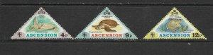 ASCENSION ISLAND - 1973 TURTLES - SCOTT 170 TO 172 - MNH