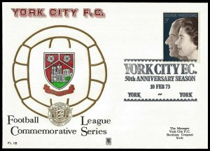 1973 York City FC 50th Anniversary Year Commemorative First day Cover
