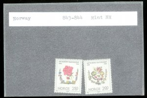 NORWAY Sc#843-844 MINT NEVER HINGED Complete Set