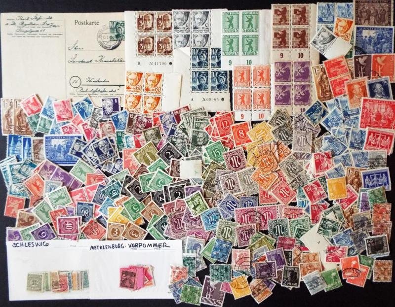 GERMANY Large Mix of Allied Occupation Stamps