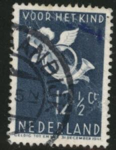 Netherlands Scott B93 used 1936 Cherub semi-postal CV $4.75