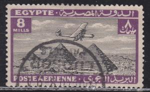 Egypt C13 Airplane Over Giza Pyramids 1933