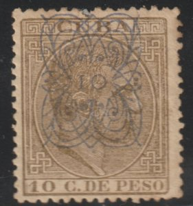 1883 Cuba Stamps Sc 110 a  King Alfonso Spain Surcharged NEW