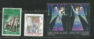 Christmas Island 4 early christmas stamps with 3 items featuring Angels