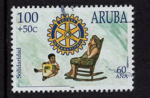 Aruba   #B52   used  1998  solidarity   100c