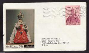 SUPERFLEAS Vatican • Holy Infant of Prague • 1968 FDC postal