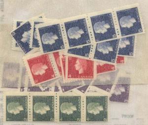 Canada USC #406-409 Mint 1962-1963 Cameo Coils in Quantity -F-F+NH