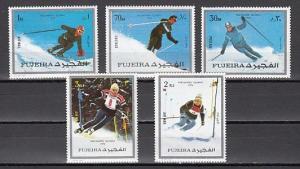 Fujeira, Mi cat. 1338-1342 A. Pre-Olympics issue. *
