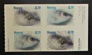 Norway 1261-62. 2000 Fish, booklet pane of four, NH