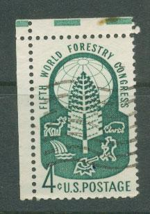 USA   SG  1155 FU top left corner margin