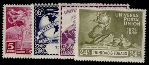 TRINIDAD & TOBAGO GV SG261-264, anniversary of UPU set, M MINT.