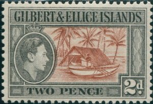 Gilbert Ellice Islands 1939 SG46 2d Canoe and Boat-house KGVI MLH