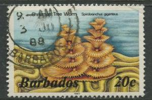 Barbados -Scott 645a -  Marine Life Issue - 1985-86 - FU - Single 20c Stamps